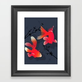 Like a fish in the sea Framed Art Print