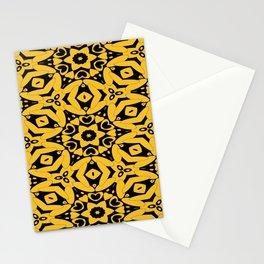 Black and Gold Kaleidoscope 2613 Stationery Cards