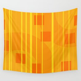 Stripes - Geometry Design Yellow Wall Tapestry