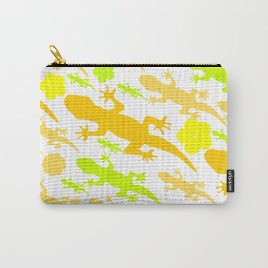 Lizards in yellow and green Carry-All Pouch