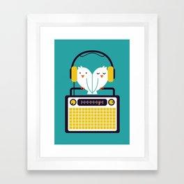 Radio Mode Love Framed Art Print