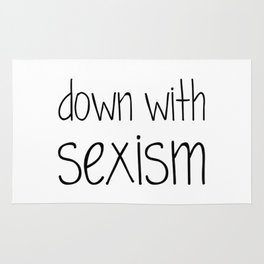 Down With Sexism Rug