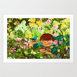 Spring Friends Art Print