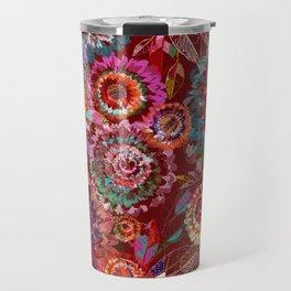 Floral abstract 54 Travel Mug