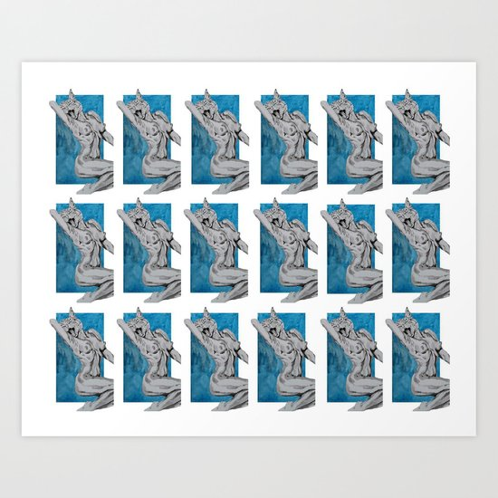 Kitties & Titties No.1 Montage Art Print