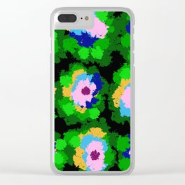 Flowers for Jackson Pollock, Matisse and Van Gogh. Clear iPhone Case