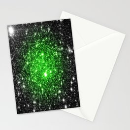 galAxy. Stars Lime Green Stationery Cards