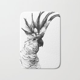 Cocky cockatoo Bath Mat