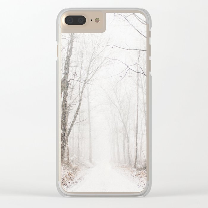 Winter path #photography #society6 Clear iPhone Case