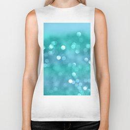Aqua Blue OCEAN Bokeh #1 #shiny #decor #art #society6 Biker Tank