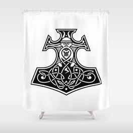 Thor's hammer Shower Curtain