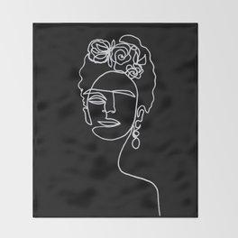 Frida Kahlo BW Throw Blanket