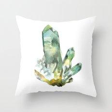 Fuchite Cluster Throw Pillow