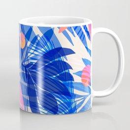 Breezy Tropics / Bright Abstract Floral Print Coffee Mug