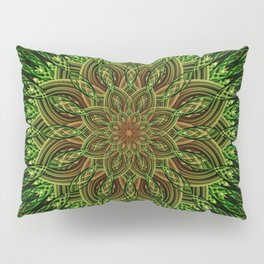 Earth Flower Mandala Pillow Sham