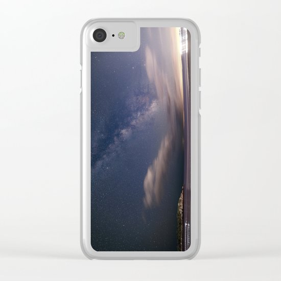 Milkyway at Good Harbor Beach Clear iPhone Case