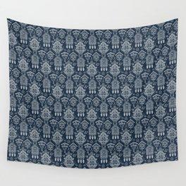 Cuckoo Clocks on Blue Wall Tapestry
