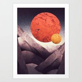 An unknown world Art Print