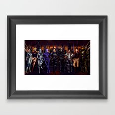 Mass Effect - Team of Awesomness Framed Art Print
