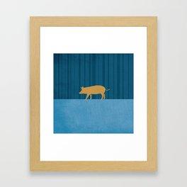 Tamworth Pig Print Framed Art Print
