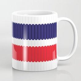 Stripe Sock Pattern Red and Dark Blue Coffee Mug