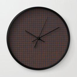 Grey and Rust Thread Pattern Wall Clock