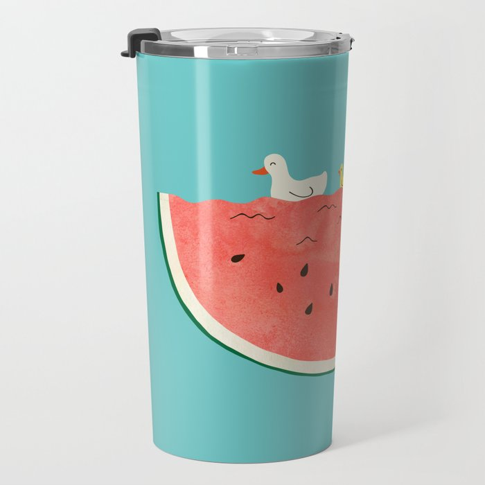 duckies and watermelon Travel Mug