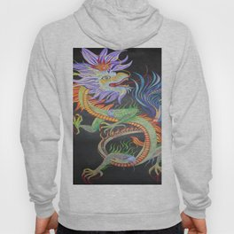 Bright and Vivid Chinese Fire Dragon Hoody