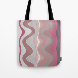 Distorted stripes in colour 4 Tote Bag