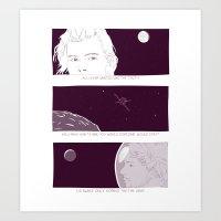 Just Louis, him & the moon Art Print