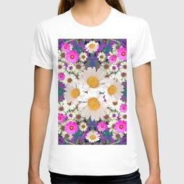 DAISIES & FUCHSIA COSMO FLOWER GARDEN T-shirt