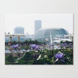 Flowers + Esplanade Canvas Print