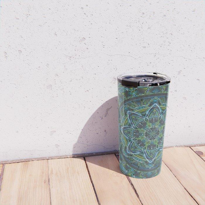 Blue and Green Mandala Travel Mug