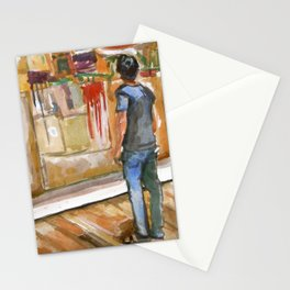 Drip Painting Stationery Cards