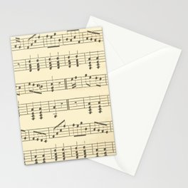 Music Note Pattern Stationery Cards