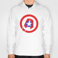 avenger Hoodies featuring Captain Avenger by foreverwars
