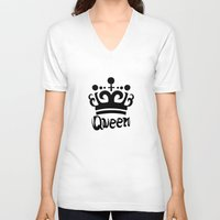 arya V-neck T-shirts featuring Queen Levy by Arya
