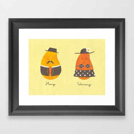 Fruit Genders Framed Art Print