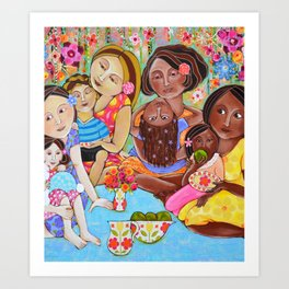Picnic in our community garden Art Print