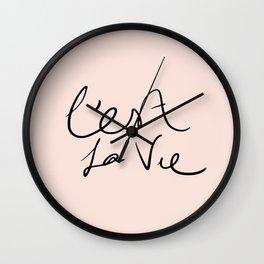 Cer la vie Wall Clock