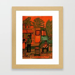 MARFA TEXAS FOOD SHARK Framed Art Print
