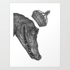 The Alligator King Art Print
