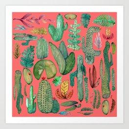 Summer Nature in Pink Art Print