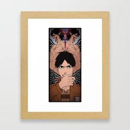 Shingeki no Kyojin - Eren card Framed Art Print