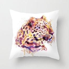 Leopard Head Throw Pillow