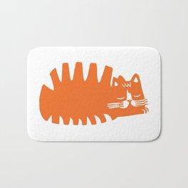 Orange Loaf Cat Bath Mat