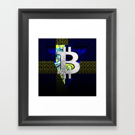 bitcoin sweden Framed Art Print