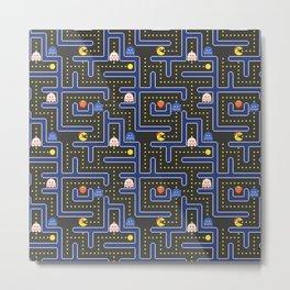 ms pacman maze Metal Print