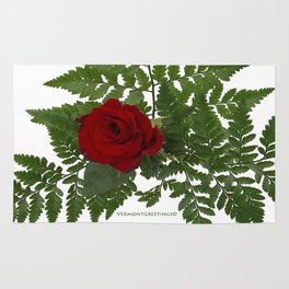 Rose in Winter Rug