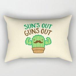 Sun's Out Guns Out Macho Cactus Rectangular Pillow